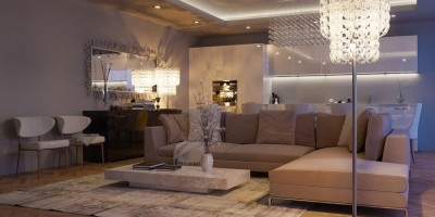 Интерьер гостевой комнаты в загородном доме